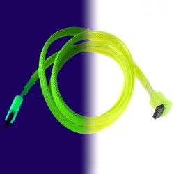 SATA-Kabel. Special Produktfotografie im Lichtspektrum und im ultraviolettlicht